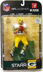 McFarlane Toys NFL Sports Picks Legends Series 5 Action Figure Bart Starr (Green Bay Packers) White Jersey Variant