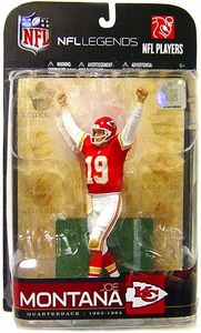 McFarlane Toys NFL Sports Picks Legends Series 5 Action Figure Joe Montana (Kansas City Chiefs) Red Jersey