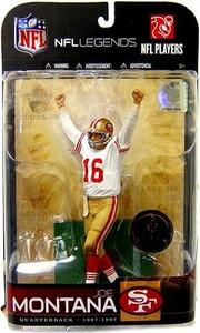 McFarlane Toys NFL Sports Picks Legends Series 5 Exclusive Action Figure Joe Montana (San Francisco 49ers) White Jersey Variant