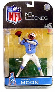 McFarlane Toys NFL Sports Picks Legends Series 4 Action Figure Warren Moon (Houston Oilers) White Sleeves