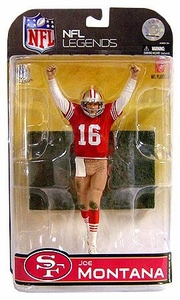 McFarlane Toys NFL Sports Picks Legends Series 4 Action Figure Joe Montana (San Francisco 49ers) Dirty Uniform