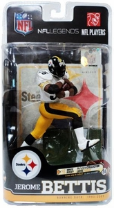 McFarlane Toys NFL Sports Picks Legends Series 6 Action Figure Jerome Bettis (Pittsburgh Steelers) White Jersey Gold Collector Chase