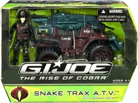 GI Joe Movie The Rise of Cobra Vehicle Snake Trax A.T.V. with Scrap Iron Action Figure