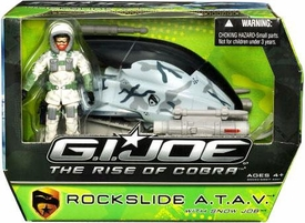 GI Joe Movie The Rise of Cobra Vehicle Rockslide A.T.A.V. with Snow Job Action Figure