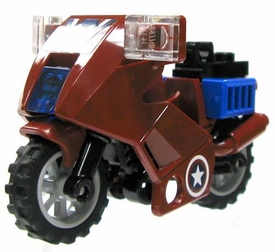 LEGO LOOSE Vehicle Dark Red & Blue Motorcyle