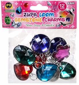 D.I.Y. Do it Yourself Bracelet Zupa Loomi Bandz Bracelet Charm 12-Pack [Gemstones]