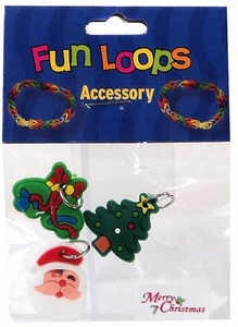Fun Loops Rubber Band Bracelet 3-Pack Christmas