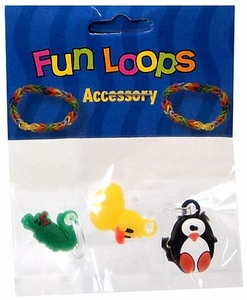 Fun Loops Rubber Band Bracelet Charm 3-Pack Random Charms