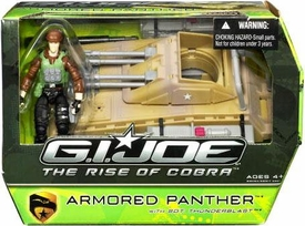 GI Joe Movie The Rise of Cobra Vehicle Armored Panther Tank with Sgt. Thunderblast Action Figure