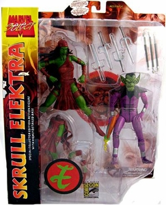 Marvel Select 2008 SDCC San Diego Comic Con Exclusive Action Figure 2-Pack Skrull Elektra