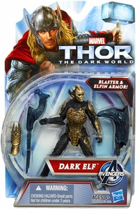 Thor The Dark World Action Figure Dark Elf [Blaster & Elfin Armor!]