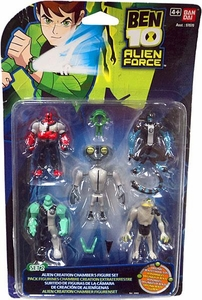 Ben 10 Alien Force Alien Creation Chamber 5-Pack Set #2 [Forearms, Greymatter, Diamondhead, Ripjaws & Xlr8] Damaged Package, Mint Contents!