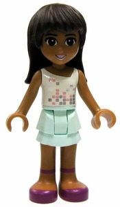 LEGO Friends LOOSE Mini Figure Sarah [White Top, Layered Aqua Skirt]