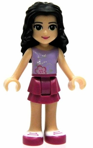 LEGO Friends LOOSE Mini Figure Emma [Violet Top, Magenta Skirt]