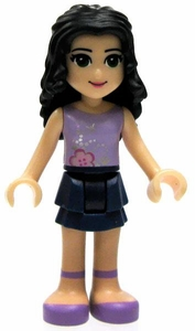 LEGO Friends LOOSE Mini Figure Emma [Lavender Top, Dark Blue Skirt]