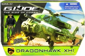 GI Joe Movie The Rise of Cobra Bravo Vehicle Dragon Hawk XH1 Helicopter with Wild Bill Action Figure