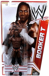 Mattel WWE Wrestling Basic Series 22 Action Figure #55 Booker T BLOWOUT SALE!