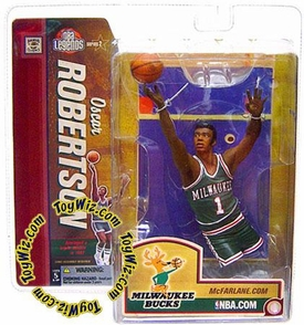 McFarlane Toys NBA Sports Picks Legends Series 2 Action Figure Oscar Robertson (Milwaukee Bucks) Green Jersey