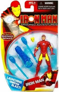 Iron Man Armored Adventures Animated 4 Inch Action Figure Iron Man [Launching Unibeam Blast!]