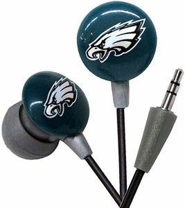 iHip NFL Football Sports Earphones Philadelphia Eagles LOGO Earbuds