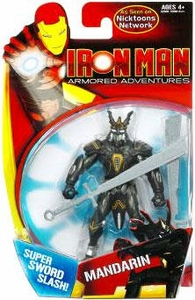 Iron Man Armored Adventures Animated 4 Inch Action Figure Mandarin [Super Sword Slash!]