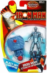 Iron Man Armored Adventures Animated 4 Inch Action Figure Iron Man Stealth Upgrade [Blast-Off Launchpad!]