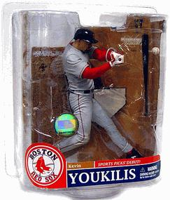 McFarlane Toys MLB Sports Picks Series 20 Exclusive Action Figure Kevin Youkilis (Boston Red Sox) Gray Jersey Variant