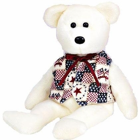 Ty Beanie Baby Internet Exclusive Libert-E the America Bear
