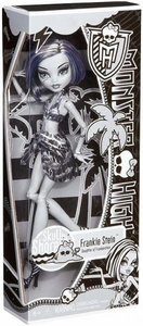 Monster High Skull Shores Basic Doll Frankie Stein [Black & White]
