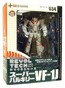 Robotech Macross Revoltech #034 Super Poseable Action Figure Rick Hunter's Super Valkyrie VF-1J [TV Series Version]