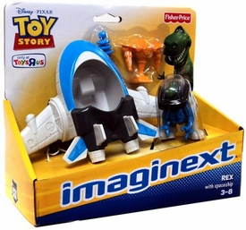 Imaginext Disney / Pixar Toy Story Exclusive Playset Rex with Spaceship