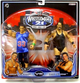 WWE Jakks Pacific Wrestlemania XXI 21 Exclusive Series 1 Action Figure 2-Pack John Cena vs. Big Show
