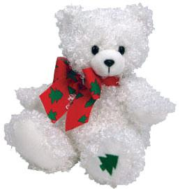 Ty Beanie Baby Merrybelle the White Christmas Bear