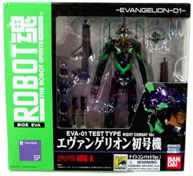 Neon Genesis Evangelion Robot Spirits SDCC 2010 Exclusive EVA-01 Test Type [Night Combat Ver.] Only 600 Made!