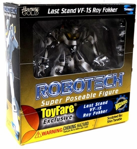 Robotech ToyFare Exclusive Super Poseable Action Figure Roy Fokker Last Stand VF-1S