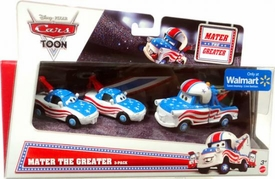 Disney / Pixar CARS Exclusive 1:55 Die Cast 3-Pack Mater the Greater [Tia, Mater the Greater & Mia]