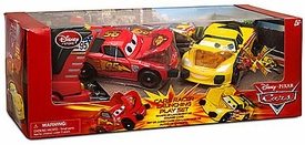 Disney / Pixar CARS Movie Exclusive Racer Launching Playset [Lightning McQueen & Jeff Gorvette]