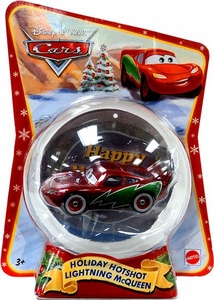 Disney / Pixar CARS Movie 1:55 Die Cast Figure Exclusive 2011 Christmas Package Holiday Hotshot Lightning McQueen