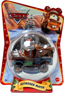Disney / Pixar CARS Movie 1:55 Die Cast Figure Exclusive 2011 Christmas Package Reindeer Mater