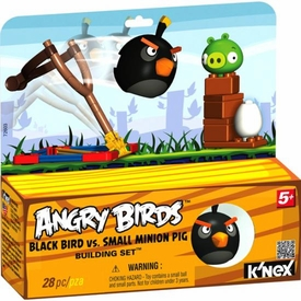 Angry Birds K'NEX Set #72603 Black Bird Vs. Small Minion Pig