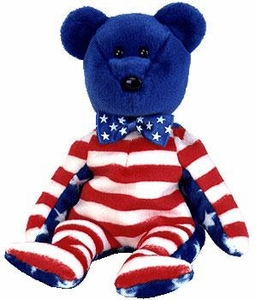 Ty Beanie Baby Exclusive Liberty the USA Blue Face Bear