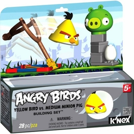 Angry Birds K'NEX Set #72601 Yellow Bird Vs. Medium Minion Pig