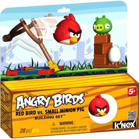 Angry Birds K'NEX Set #72600 Red Bird Vs. Small Minion Pig BLOWOUT SALE!
