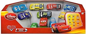 Disney / Pixar CARS Movie Exclusive 1:48 Die Cast Car Piston Cup 10-Pack McQueen, Dinoco McQueen, Chick, No Stall, Sidewall Shine, Transberry Juice, Trunk Fresh, RPM 64, King & Clutch Aid