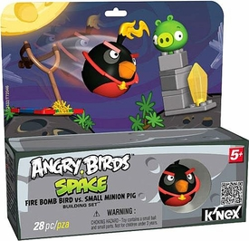Angry Birds Space K'NEX Exclusive Set #72432 Fire Bomb Bird vs Small Minion Pig