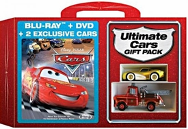 Disney / Pixar CARS Movie Exclusive Ultimate Blu-Ray & DVD Combo Pack Gift Set [Die Cast Ransburg McQueen & Firetruck Mater]