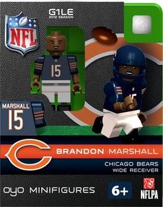 OYO Football NFL Building Brick Minifigure Brandon Marshall [Chicago Bears]