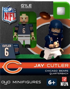 OYO Football NFL Building Brick Minifigure Jay Cutlerl [Chicago Bears]
