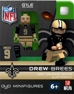 OYO Football NFL Building Brick Minifigure Drew Brees [New Orleans Saints]