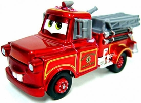 Exclusive Ransburg Rescue Squad Firetruck Mater [Metallic Finish] LOOSE Disney / Pixar CARS Movie 1:55 Die Cast Car